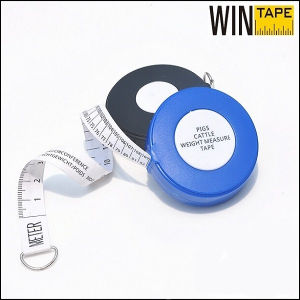 Plastic Logo Design Weight Pig Cattle Tape Measure pictures & photos
