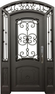 Wrought Iron Gate Metal Door for Entrance pictures & photos