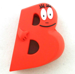 Fashion Red Custom Soft PVC Rubber Tag pictures & photos