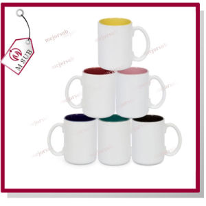 15oz Photo Printed Sublimation Ceramic Inner Color Mug pictures & photos