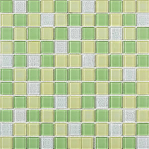Green Blend Crystal Glass Mosaic pictures & photos