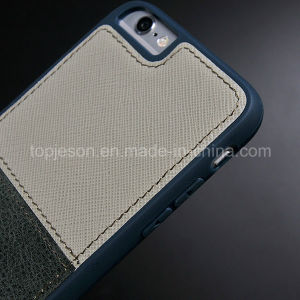 Khaki with Army Green Genuine Leather Case for iPhone 6 Plus pictures & photos