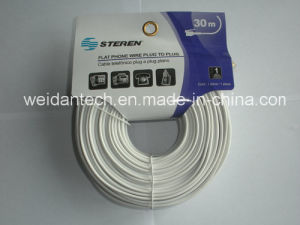 Lowest Price Steren Rj11 30meter Telephone Cable pictures & photos
