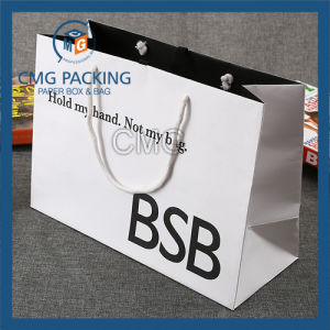 High Glossy Black Printing Handle Paper Bag (DM-GPBB-154) pictures & photos