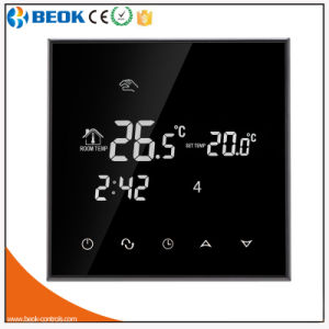 16A Black Glass Touch Thermostat with Degrees Fahrenheit Display pictures & photos