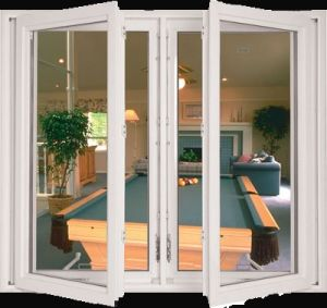 Double Glazed Low E Glass PVC Casement Window