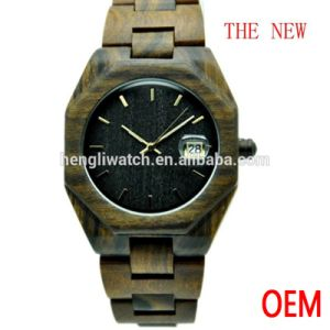 Hot Sale Fashion Ebony Watch, Best Quality Wood Watch (Ja15053) pictures & photos