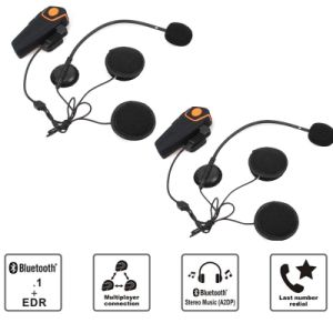 Waterproof Bluetooth 3.0+EDR Waterproof 1000m Handfree Wireless Helmet Headset Bt809 Motorcycle Helmet Bluetooth Headset Intercom with FM pictures & photos