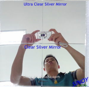 Double Coated Low Iron Float Glass Extra Clear Mirror pictures & photos