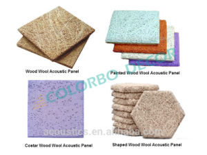 Good Quality Shaped Wood Wool Finale Interior Panels pictures & photos