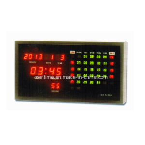 LED Digital Wall Mounted Date and Time Clock with Temperature pictures & photos