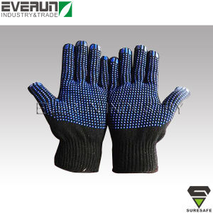 ER9707B Dotted gloves Hand gloves dotted cotton gloves pictures & photos