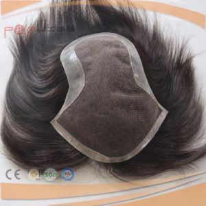 Warm Dark Brown Color Full Hand Tied Lace Front Human Hair Piece Mens Toupee pictures & photos