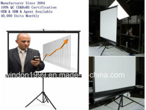 """84X84"""" Manual Tripod Stand Projector Screen OEM&ODM pictures & photos"""