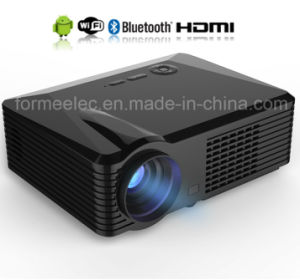 Android WiFi LED Projector with Bluetooth Home Theater Projector 2500lumens pictures & photos