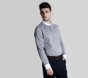 Contrast Collar and Cuff Fashion Dress Shirt for Men pictures & photos