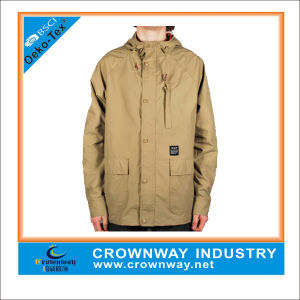 Mens Long Parka Jacket with Embroidery Logo pictures & photos