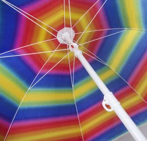 """Large 80"""" Beach Umbrella with Carrying Case 1.25"""" Pole Diameter (Multi) pictures & photos"""