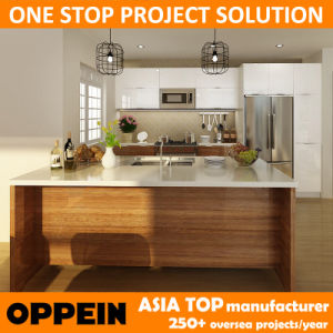 Oppein America Project Lacquer and High Gloss PVC Kitchen Cabinets (OP14-PVC05) pictures & photos