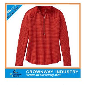Custom Running Wild Half Zip Red Pretty Top for Women pictures & photos