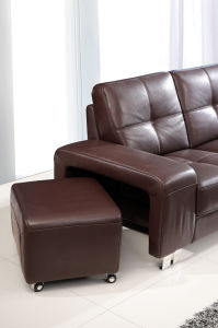 Living Room Genuine Leather Sofa (H-9050) pictures & photos