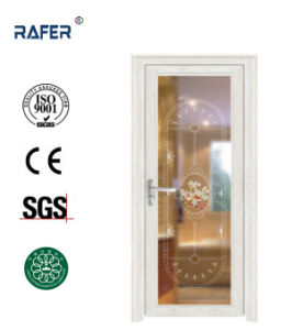 White Color with Beautiful Glass Aluminum Toilet Door (RA-G010) pictures & photos