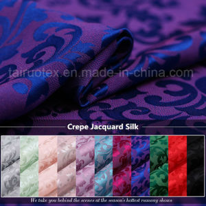 22mm Crepe Jacquard Silk with Reactive Dying for Silk Scarf pictures & photos