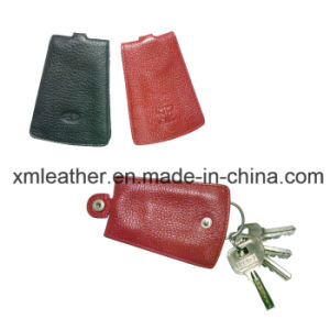Custom Faux Leather Key Wallet with Key Ring pictures & photos