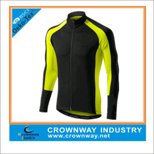 Cheap Men Long Sleeve Cycling Jersey with 3 Rear Pockets pictures & photos