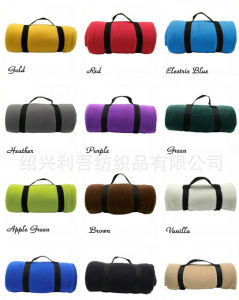 Travel Fleece Blanket with Carrying Strap (ES2072909AMA) pictures & photos