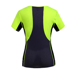 OEM Women′s Polyester Sport Running Shirts pictures & photos