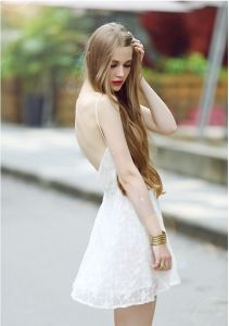 2015 Fashion Sexy White Lace Dress for Women pictures & photos