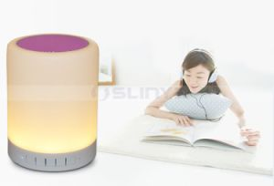 7 Colors Changering LED TF Aux Bluetooth Light LED Sense Speaker with Hook pictures & photos