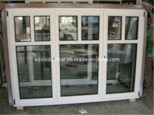 Power Coating Wood Window with White Colour (KDSW0011)