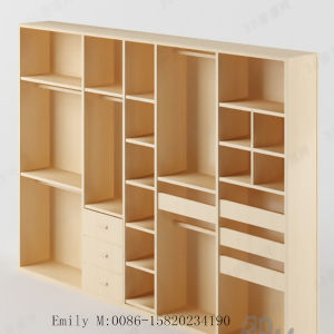 Good Quality Melamine MDF Bedroom Wardrobe (ZHUV factory) pictures & photos