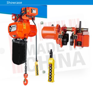 Electrical Chain Hoist Manufacturers with Hook or Trolley pictures & photos