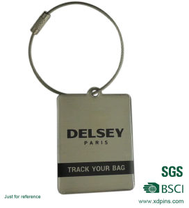 Custom Design Stainless Iron Printing Luggage Tag for Luggage pictures & photos