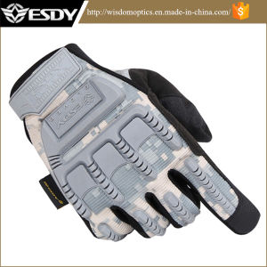 Esdy Tactical Outdoor Sports Full Finger Military Fans Camo Gloves pictures & photos