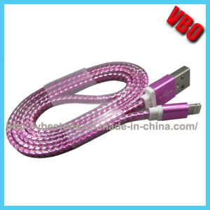 2015 New High Speed Flexible Mobile Flat Transparent USB Data Charging Cable for Cell Phone pictures & photos
