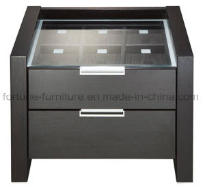 Wooden 2 Drawers Nightstand with Jewel Case 560*433*462 (I&D-N10172)
