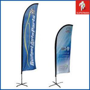 Custom Cheap Outdoor Polyester Beach Flag From China (SM050090)