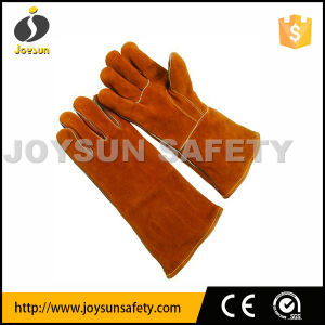 Cow Split Leather Welding Gloves Safety Working Gloves (WCBY02)