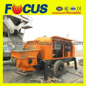 Portable Concrete Trailer Pump, 90kw Electric Trailer Mounted Concrete Pump pictures & photos