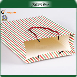 Custom Fashion Newly Strip Pattern Gift Paper Bags pictures & photos