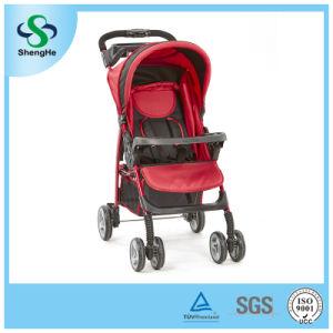 Foldable Baby Pram with Adjustable Backrest Big Basket and Dinner Plate (SH-B12)