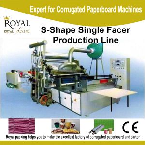 S Type Shape Single Facer Production Line for Cup or Flowers pictures & photos