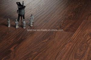 8mm Dark Walnut Laminated Flooring pictures & photos
