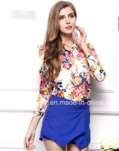 Fancy Long Sleeve Chiffon Women′s Casual Shirts pictures & photos