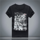 Men′s Printed Cotton Short Sleeve T-Shirt