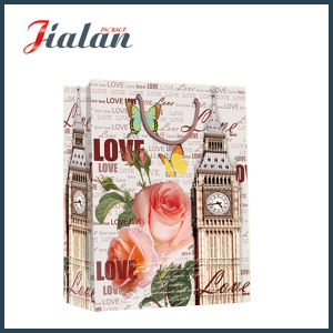 Matte Laminated Ivory Paper Big Ben Shopping Gift Paper Bag pictures & photos